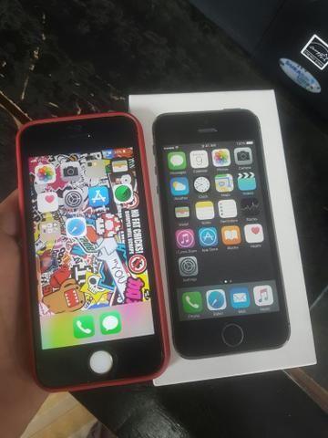 Iphone 5s 16 gb icloud limpo está com marcas de uso