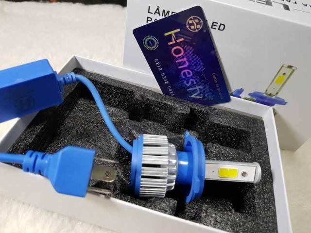 Lampada LED Farol H4 4100LM de potencia 36W com Cooler (Uma Unidade/Moto) - Foto 9