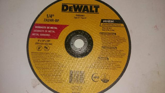 Disco de desbaste 9pol DeWalt 5 peças