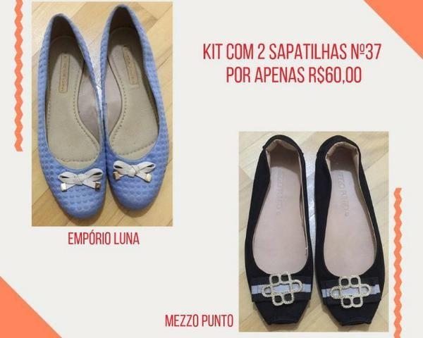 05339879343e3 Kit com 2 sapatilhas n.37 - Usadas apenas 1x - Roupas e calçados ...