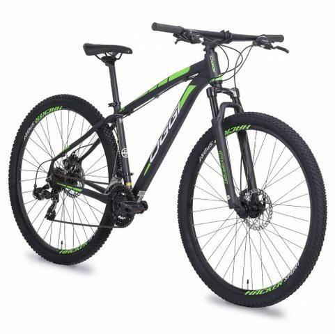 Bicicleta OggiI Hacker Aro 29 + Led Traseiro