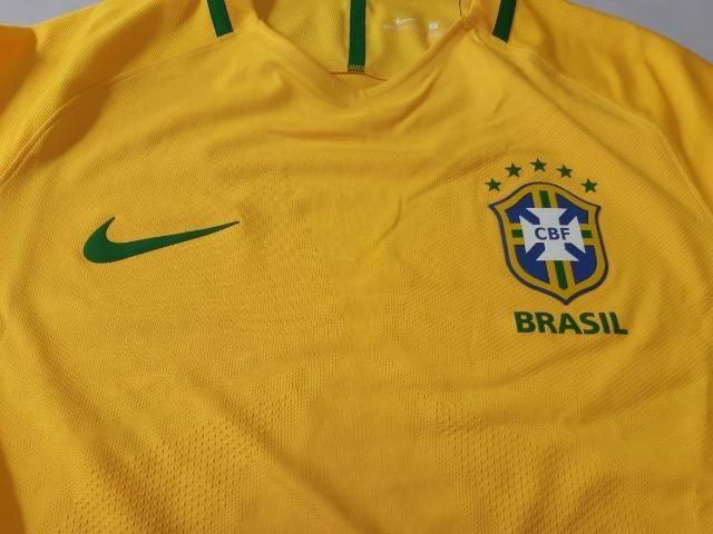 Camisa Nike Seleção Brasileira 2016  2017 I Home Jogador Aeroswift Vapor b12fa29c96701