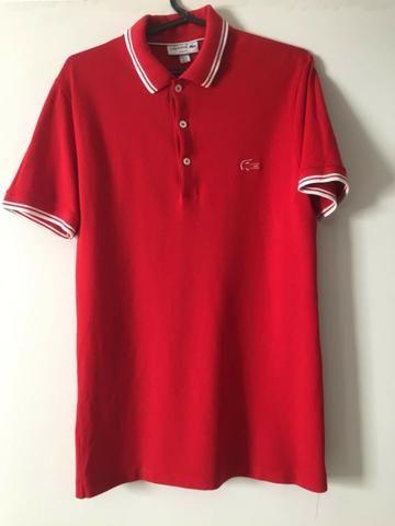 c8d9d0b7cd2e3 Camisa Polo Lacoste Vermelha (crocodilo em borracha) - Roupas e ...