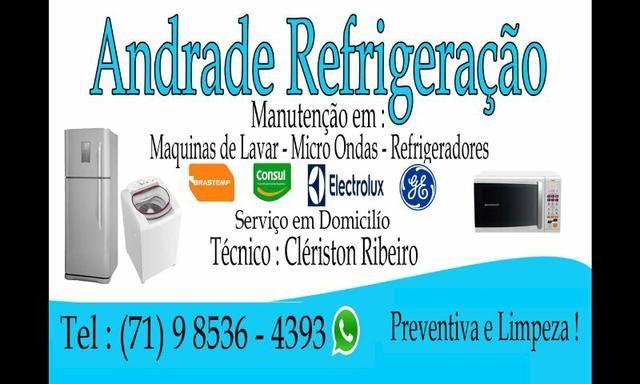Consertos em maquinas de lavar,geladeiras e microondas