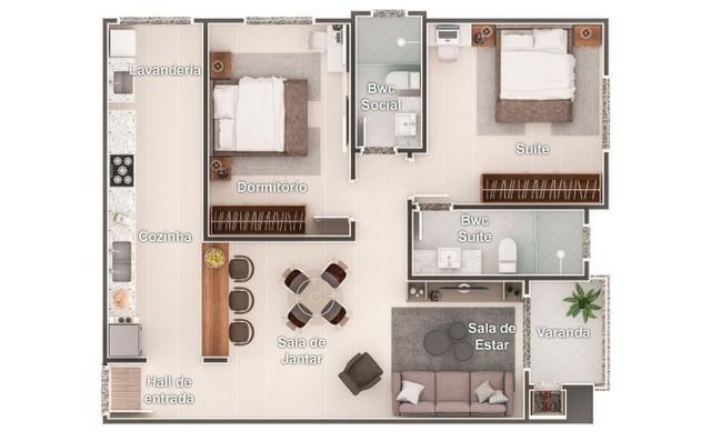 Apartamentos em Ótima localização, próximo a Universidades; - Foto 2