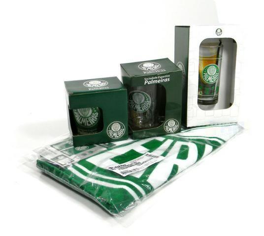 Kit Presente Torcedor Palmeiras SP 4x1 1Toalha 2Canecas 1Copo - Foto 2