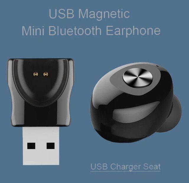 Fone de ouvido TWS bluetooth mono single XG-12 excelente Áudio e bateria - Foto 3
