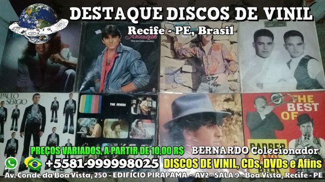 Varios Discos de Vinil CDs e DVDs, Preços Variados - Foto 5
