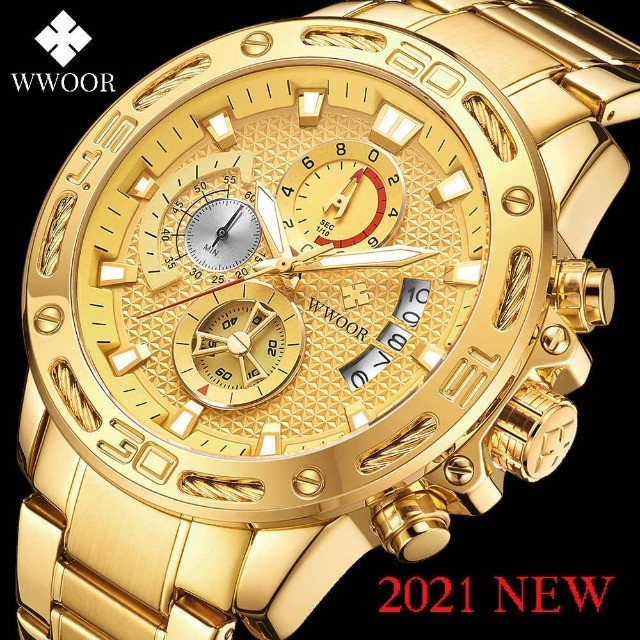 Relógio de luxo wwoor cronógrafo modelo 2021