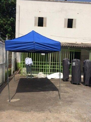 Tenda Sanfonada Nylon 2x2 Azul #ProntaEntrega
