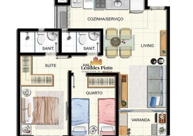 Apartamento com 2/4, 53m², varanda e 1 vaga na Vila Laura - | Villa Vita | VV003 - Foto 6