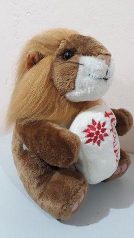 Pelúcia Leão antiga da coleção mamíferos da Parmalat  - Foto 3