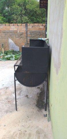 Churrasqueira a carvão  - Foto 3