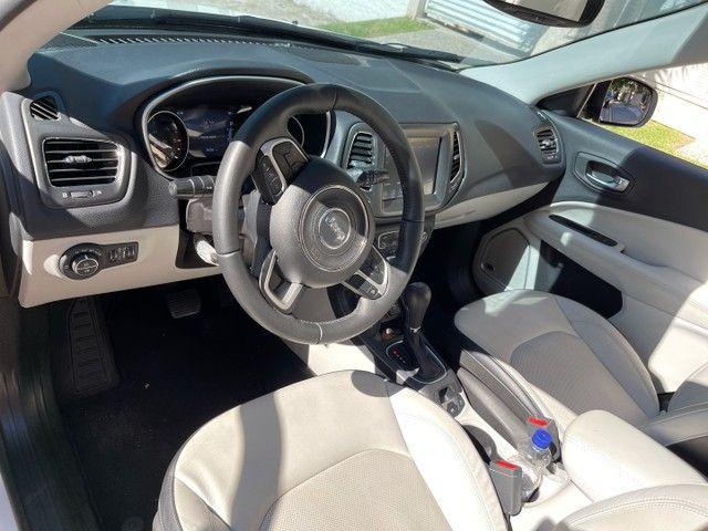 Jeep Compass Longitude Diesel 4x4 Teto Solar botão start/stop 20/20 - Foto 11
