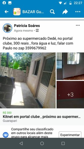 Aluga-se uma kitinet em Portal Clube Guarapari es