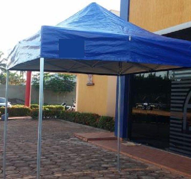 Tenda Sanfonada Nylon 2x2 Azul #ProntaEntrega  - Foto 4