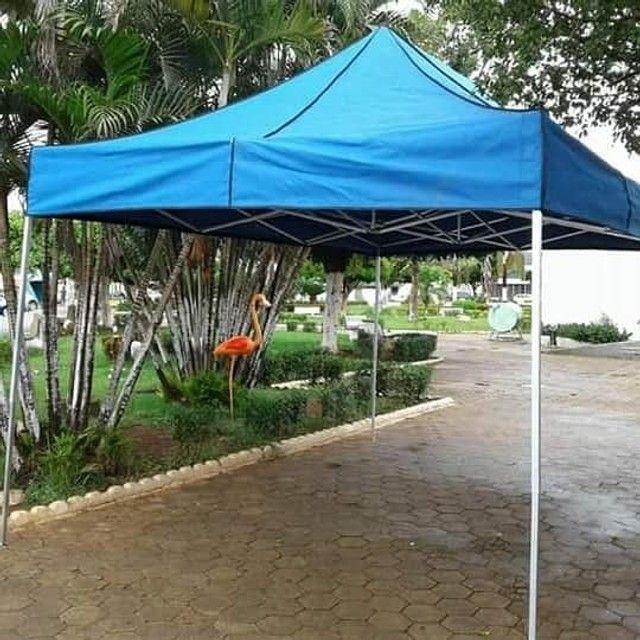 Tenda Sanfonada Nylon 2x2 Azul #ProntaEntrega  - Foto 3
