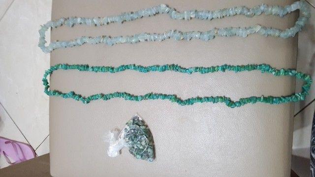 Lote de cordões  cascalho de pedras brasileiras  - Foto 5