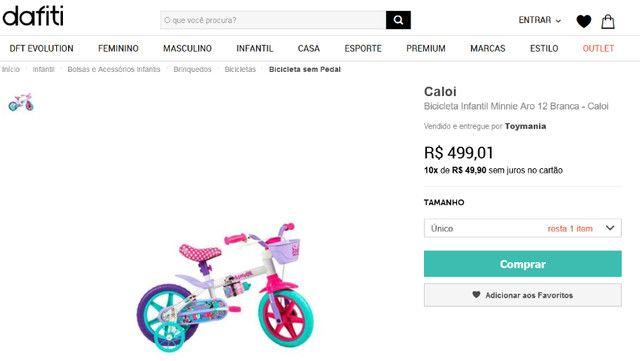 Bicicleta Menina Barbie Caloi Aro 12 - Foto 6