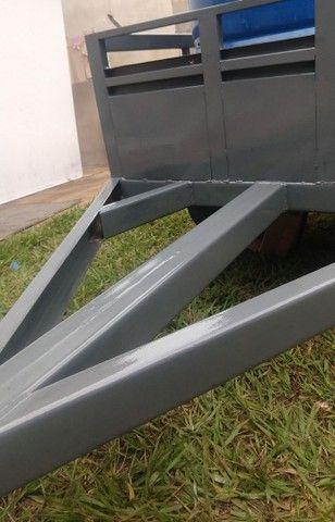 Carretinha em Metal aguenta peso - Foto 12