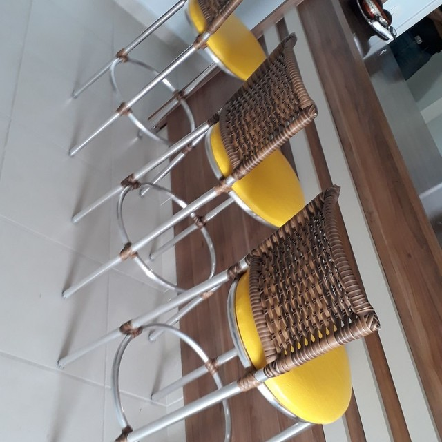 Fabricamos banqueta de alumínio em fibra sintética por encomenda  - Foto 5