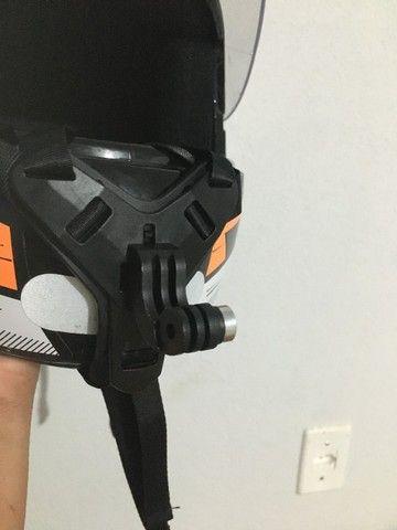 Suporte queixo capacete câmera (Motovlog) - Foto 5