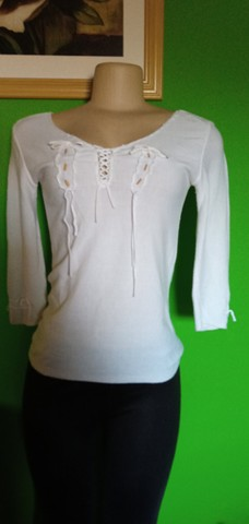 Blusa Tricô Branca - Tam. M - Foto 2