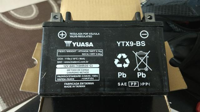 Bateria Yuasa Nova Na caixa Honda Hornet, CBR 600