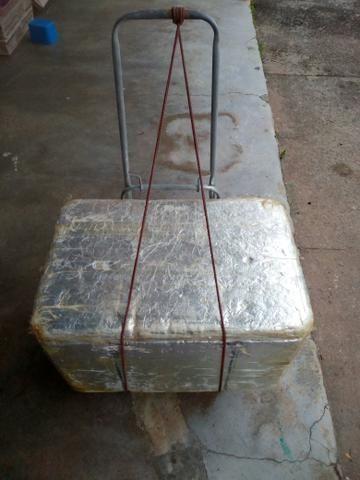 Carrinho de aluminio com caixa de isopor (Apenas Anapolis)