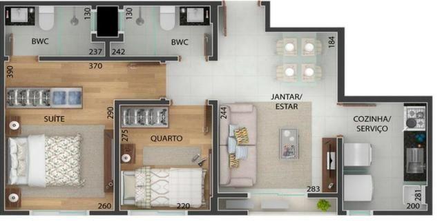 Apartamento 2 quartos sendo uma suite Portão - Foto 2