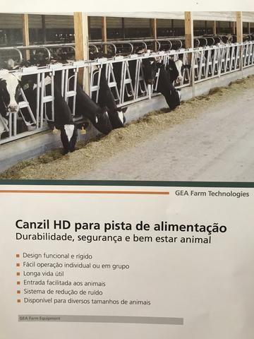 Canzil galvanizado 4 lugares para vacas