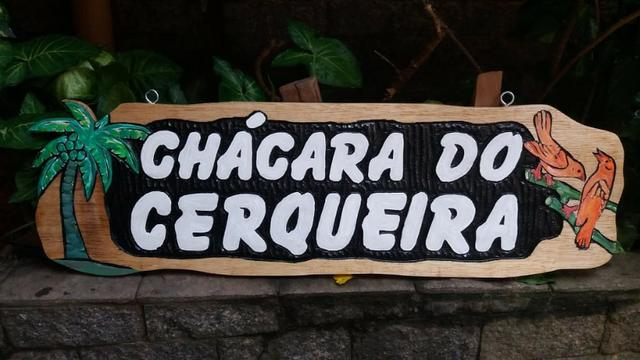 Placas Sítios, Chácaras Personalizadas em Madeira Entalhadas