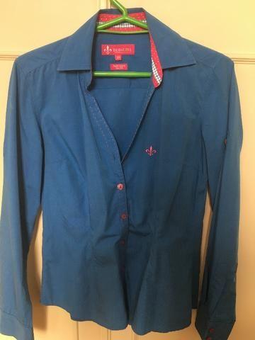 Camisa Feminina Dudalina Azul - Pouquíssimo uso - Roupas e calçados ... ebb79186ffdb5