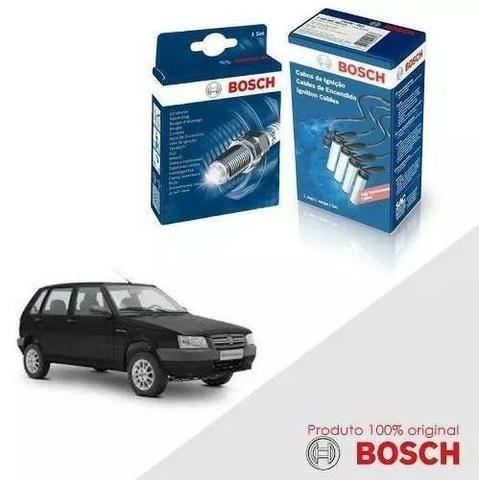 Kit Jogo Cabo Velas Bosch Uno G1 1.0 8v Fiasa Gasolina 84-94