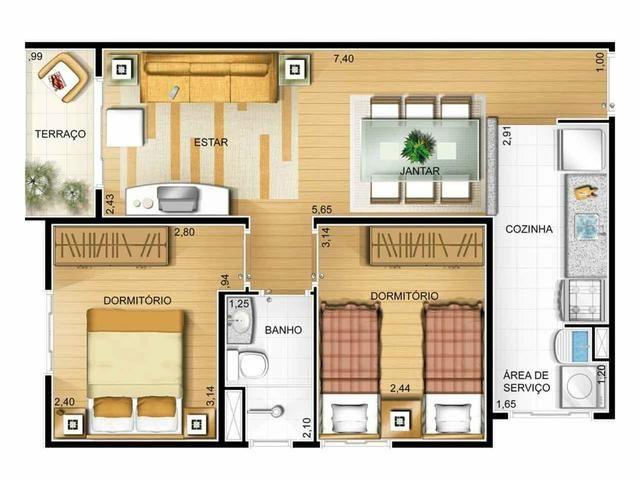 Apartamento Pronto 2 Dorms, 2 Vagas Parque São Jorge - Foto 3