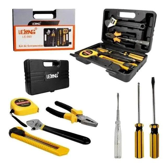 Kit de ferramentas com 7 peças indicado para uso doméstico e pequenos reparos - Foto 2