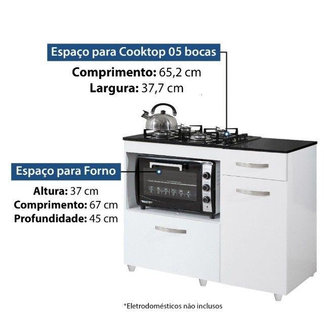 Balcão para cooktop de 5 bocas Violeta | NOVO - Foto 5