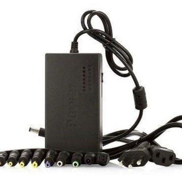 Fonte Carregador Universal Para Notebook 120w com 8 conectores - Foto 5