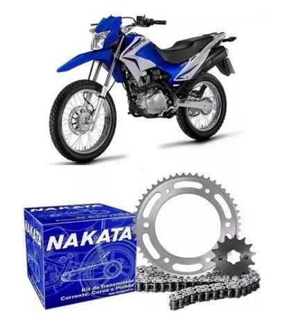 O melhor Kit de Transmissão Nakata Aço 1045 para a Bros 160 e XRE 190
