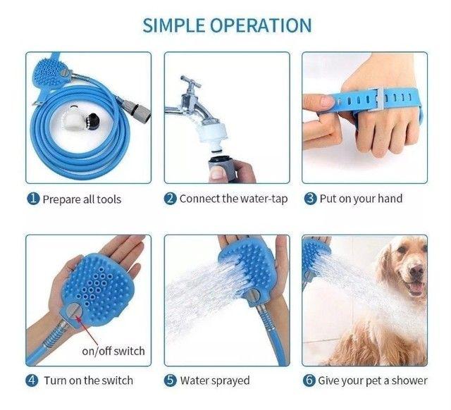 Ducha de banho para cachorro  - Foto 4