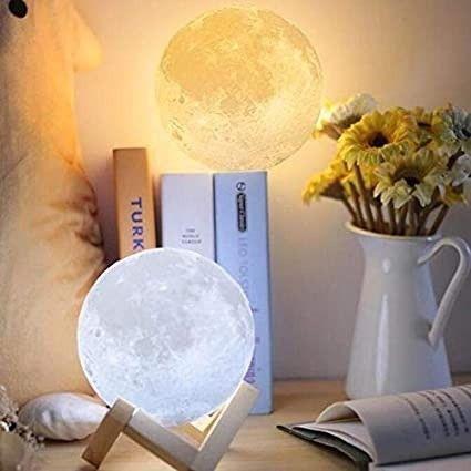 Dê a Lua ao Seu Crush Luminária Lua Cheia Decoração de Cabeceira - Foto 2