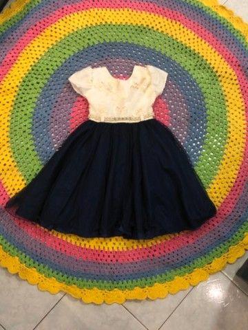 Vestido de festa infantil azul royal - Foto 2