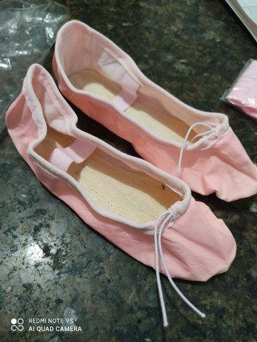 Kit completo de bailarina novo tamanho 4 a 6 - Foto 5