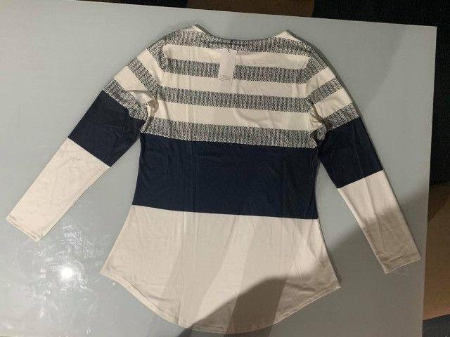 Blusa Casual Color Block