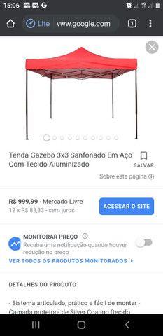 TENDA SANFONADA 3x3 USADA