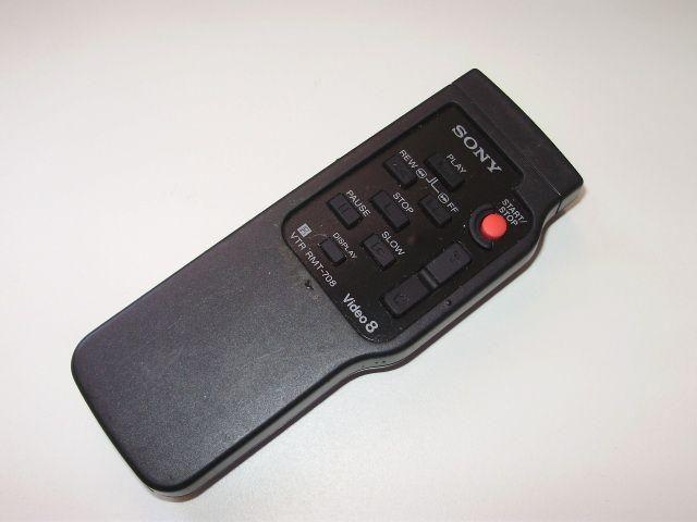 Controle Remoto Filmadora Sony Rmt-708 Video 8 Original