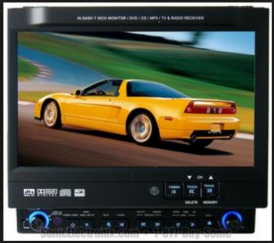 Dvd P/ Carro Retratil Tela 7 C/ Usb Radio Am Fm Audiovox Vis