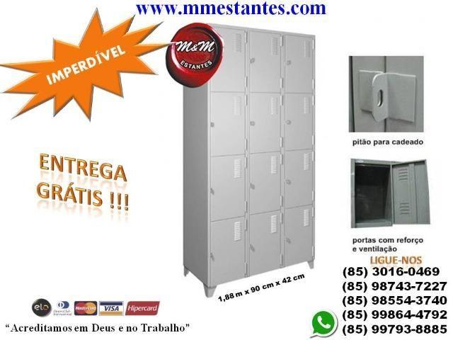 (85) 3016-0469 - Roupeiro de Aço 8 Portas - Foto 2