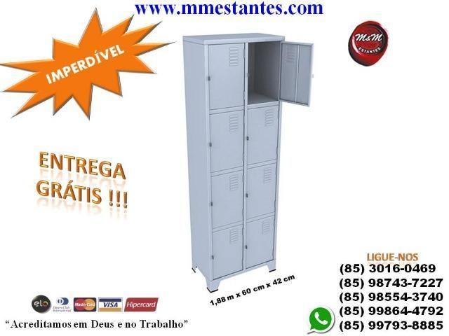 (85) 3016-0469 - Roupeiro de Aço 8 Portas