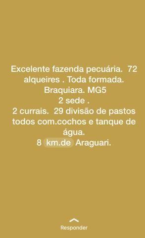 Fazenda próximo Araguari 72 Alqueires